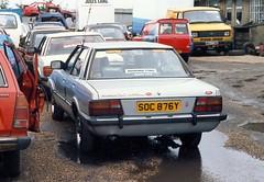 1982 Ford Cortina 2.0 Crusader (Stuart Axe) Tags: classic ford cortina car sedan classiccar 80s 70s 1983 1970s 1980s saloon crusader taunus mk4 fordcortina mk5 fordtaunus cortina80 cortinacrusader dagenhamdustbin soc876y