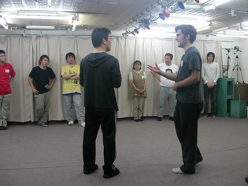 John Herman teaching improv comedy in Japan through a translator (by mrjohnherman)