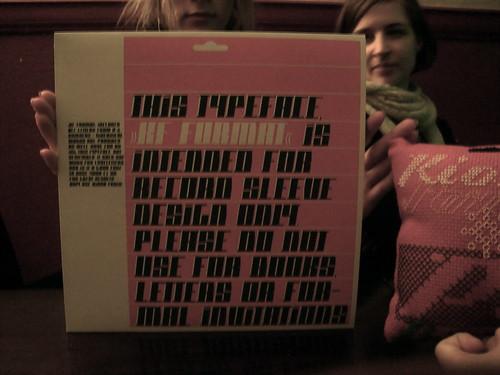 Type on records