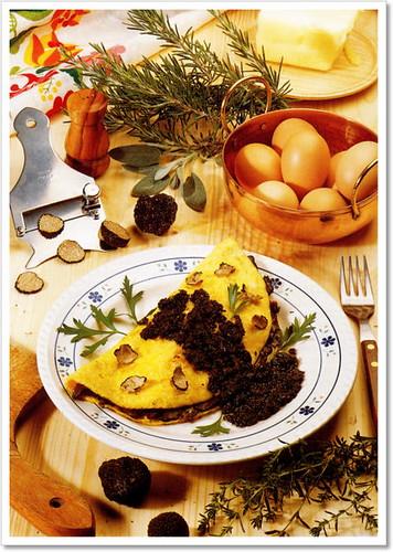 foto delle omelette con i funghi