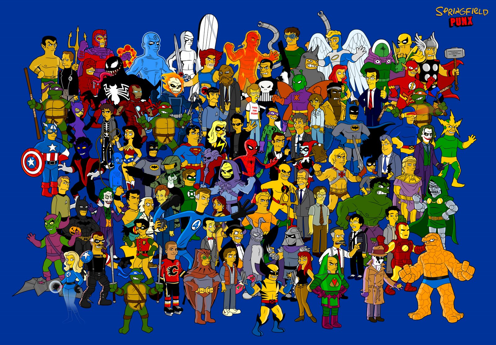 Famous Cartoon Characters Super Heroes