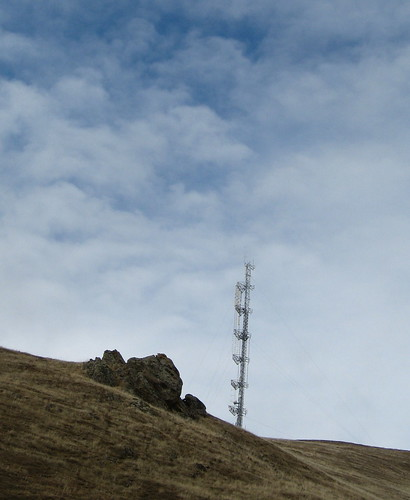 Transmission tower at Monument Peak