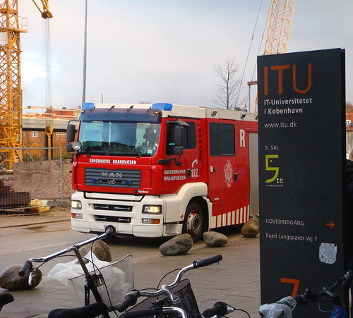 Fire engine kicking off WUD2008 theme at ITU!