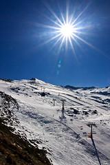 Estacin de Esqu de Sierra Nevada (Jess VR) Tags: espaa sun snow ski sol nature canon landscape geotagged eos spain europa europe nieve paisaje andalucia pico flare andalusia esqui veleta pradollano 40d canonista tokina1224atx indalofoto jesusvr
