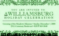 Greening of the Meadows Museum Williamsburg Holiday Celebration