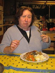 Mom Feasting (Eapa) Tags: thanksgiving family leftovers