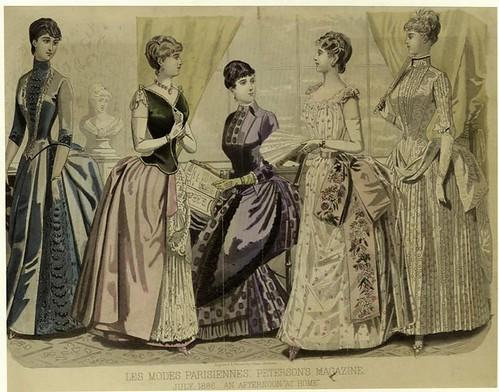 001-Les Modes parisiennes-Una tarde en casa 1886