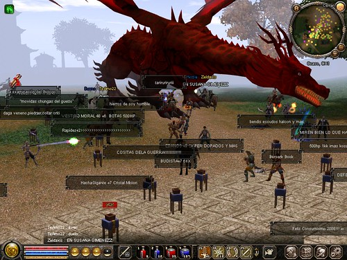 dragon rojo by omni's.