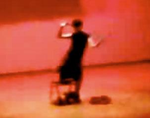 TPJC student, Sylvester Goh doing a striptease