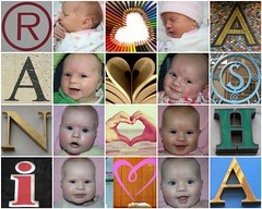rani & asha (birth-6 months) (*omnia*) Tags: girls twins fdsflickrtoys babies mosaic asha fraternal rani