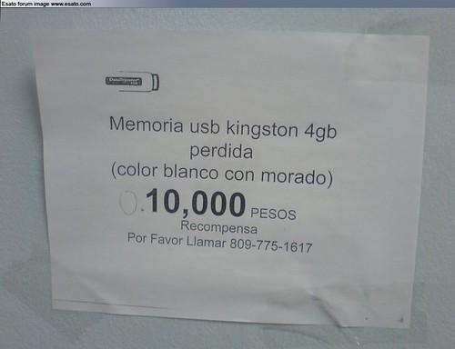 Se Busca Memoria USB!