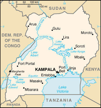烏干達地圖 (by YU-TA LEE)
