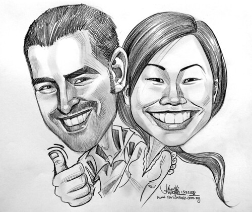 Couple caricatures in pencil 151008 - 2