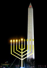 Gmar chatimah tovah (LaTur) Tags: winter night us dc washington chanukah jewish dcist hebrew washingtonmonument festivaloflights hanukkah menorah shamash hanukiah