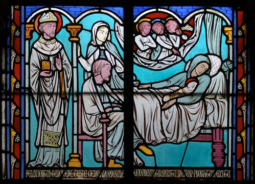 001- Vitral nº1 del claustro de Notre Dame