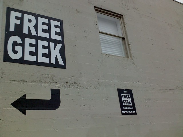 Free Geek signs