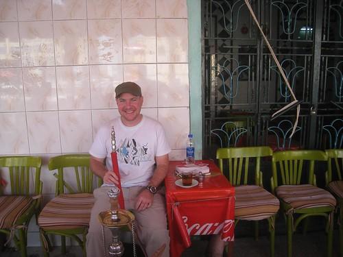 Happy times smoking sheesha and sipping tea in Aswan