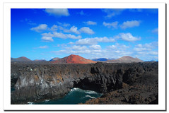 Lanzarote. Canary Islands.- (ancama_99(toni)) Tags: ocean trip travel blue light sea vacation sky espaa paisajes naturaleza sun mountain holiday seascape mountains color beach nature water azul clouds marina landscape geotagged photography mar photo interestingness interesting spain agua nikon espanha europa europe seascapes photos lanzarote playa paisaje canarias photographic bleu explore cielo nubes canary 1855mm blau nikkor paysage 2008 espagne paesaggi canaryislands islas aigua paisagens oceano islascanarias marinas timanfaya d60 azl nikkor1855 25favs landschaftsaufnahmen 25faves aplusphoto ultimateshot holidaysvacanzeurlaub ancama99 interesantsimo flickrlovers