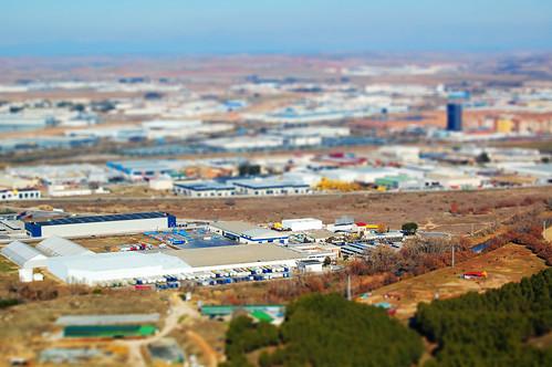 Poligono industrial desde el cerro del viso