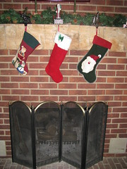 Only the kids get stockings at our house (AliBlog) Tags: christmas chimney stockings mantle