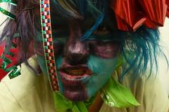 P1610465 () Tags: selfportrait colour macro eye me face myself dangerous rainbow focus paint acrylic colours facepaint acrylicpaint roygbiv 10secondtimer i