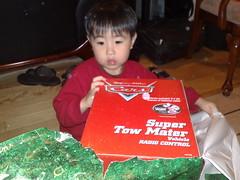 jarron opening gifts (jobber99) Tags: jarron
