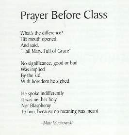 The issue of praying before classes in american schools