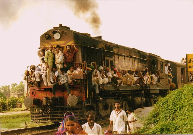 Taking the train in India