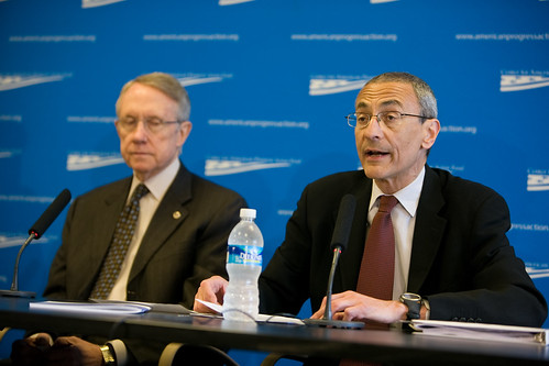 John Podesta, with Harry Reid, one of Hillary's Democratic leadership superdelegates.
