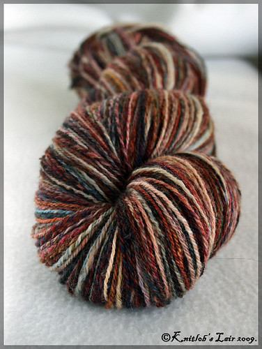 handspun bfl sock yarn