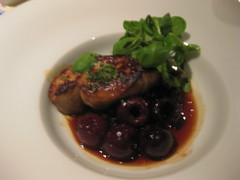 Gary Danko - Seared Sonoma Foie Gras with Caramelized Red Onions and Cherries