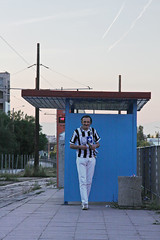 I love Inzaghi (bellimarco) Tags: auto road sunset color car strada tramonto sofia bulgaria marco belli juventus inzaghi