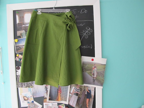 home sewn wrap skirt--McCall's M5430