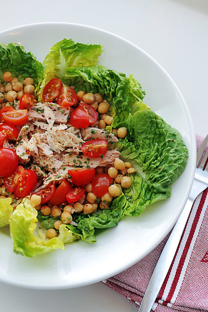 Tuna, Tomatoes and Chickpeas