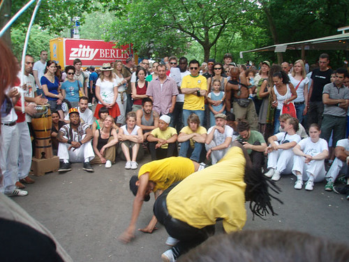 Capoeira Dancing at the Carnival of the Cultures, Berlin