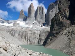 Torres del Paine (John Spooner) Tags: chile patagonia mountain southamerica montagne trekking trek montana glacier cerro creativecommons torresdelpaine 2008 moraine february2008 johnspooner