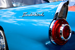 T-Bird Tail (kamiekam) Tags: blue car texas vivid thunderbird bellville theblues mywinners toxiccolors riotofcolours artlegacy colourartawards worldofcars