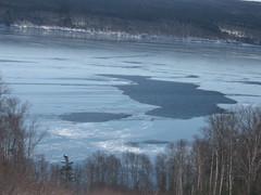 Frozen lake from hill (Zach Bonnell) Tags: lake frozen gander