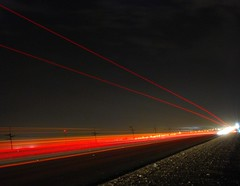 Light Trails (Shakir's Photography) Tags: red night speed dark highway long exposure line trail ligt shutter   shanko                                     oltusfotos