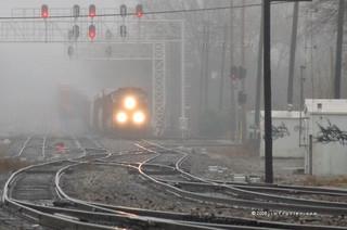 BNSF In Fog
