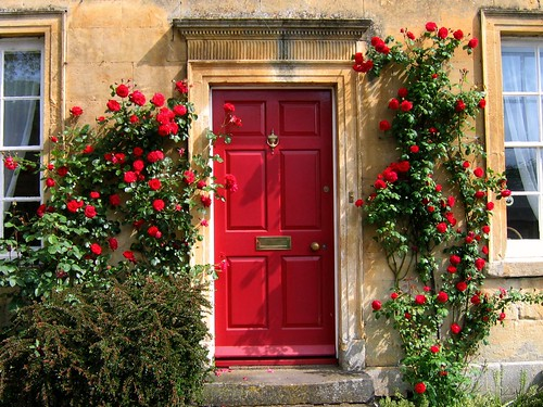 Red Door in the Cotswolds