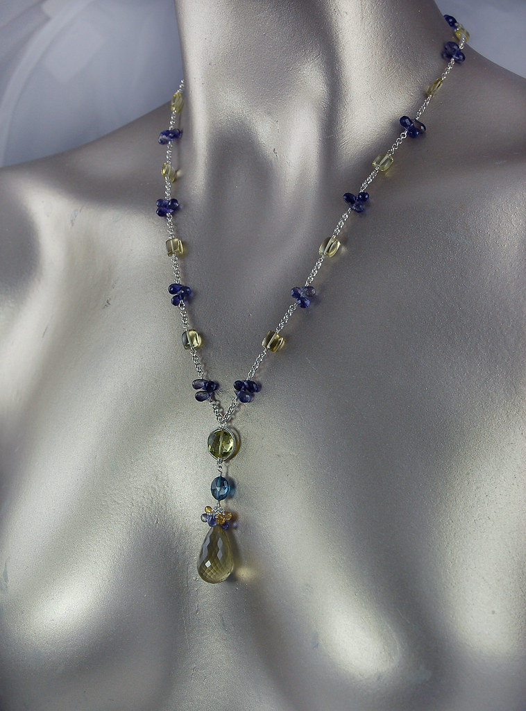 Classic~ Lemon Quartz, London Blue Topaz, Sapphire, iolite