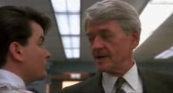 Charlie Sheen and Hal Holbrook in Wall Street