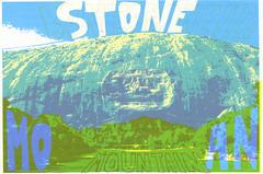 Stone Bone Drone Moan (Tate Foley) Tags: mountain art stone ga georgia print screenprint silkscreen printmaking bone moan drone