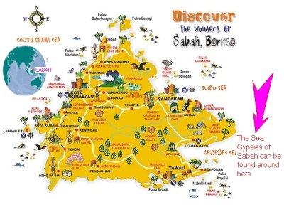 Borneo Sea Gypsy Location