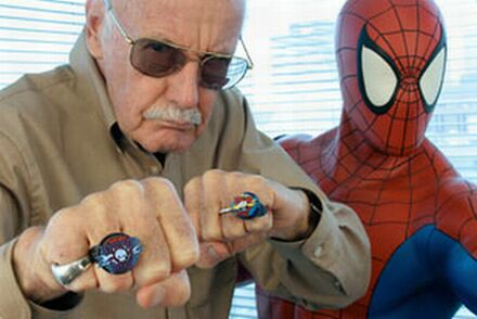 Stan lee y Spiderman