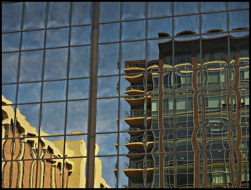 Reflections of Two Buildings