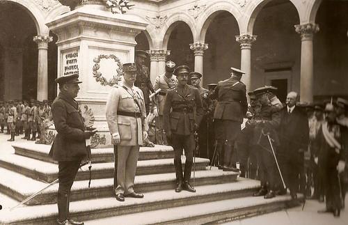 Alfonso XIII y el mariscal Pétain en Toledo (Fotografía Rodríguez)