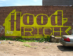 Hoodrich (Becki_Fuller) Tags: street nyc streetart ny newyork yellow brooklyn photography graffiti reader books rancor roller readmore booker hoodrich rancour