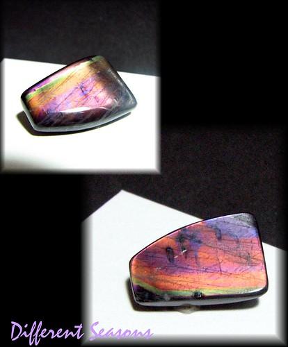 35 carats Reversible Spectrolite Gem